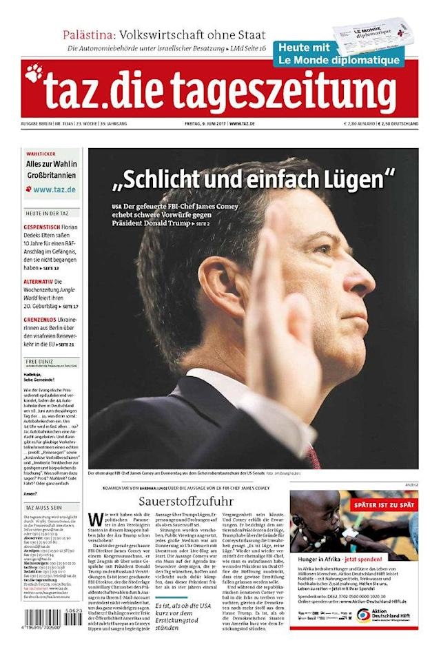 "<p>""Die Tageszeitung,"" published in Berlin, Germany. (Newseum) </p>"