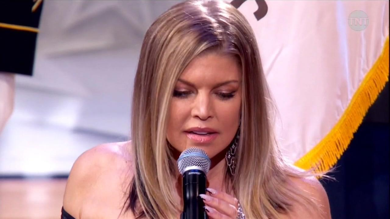 "Singer Fergie is being panned for her rendition at the NBA All-Star Game Sunday night. Critics have dubbed it the ""Star-Mangled Banner"" for it's blues style."