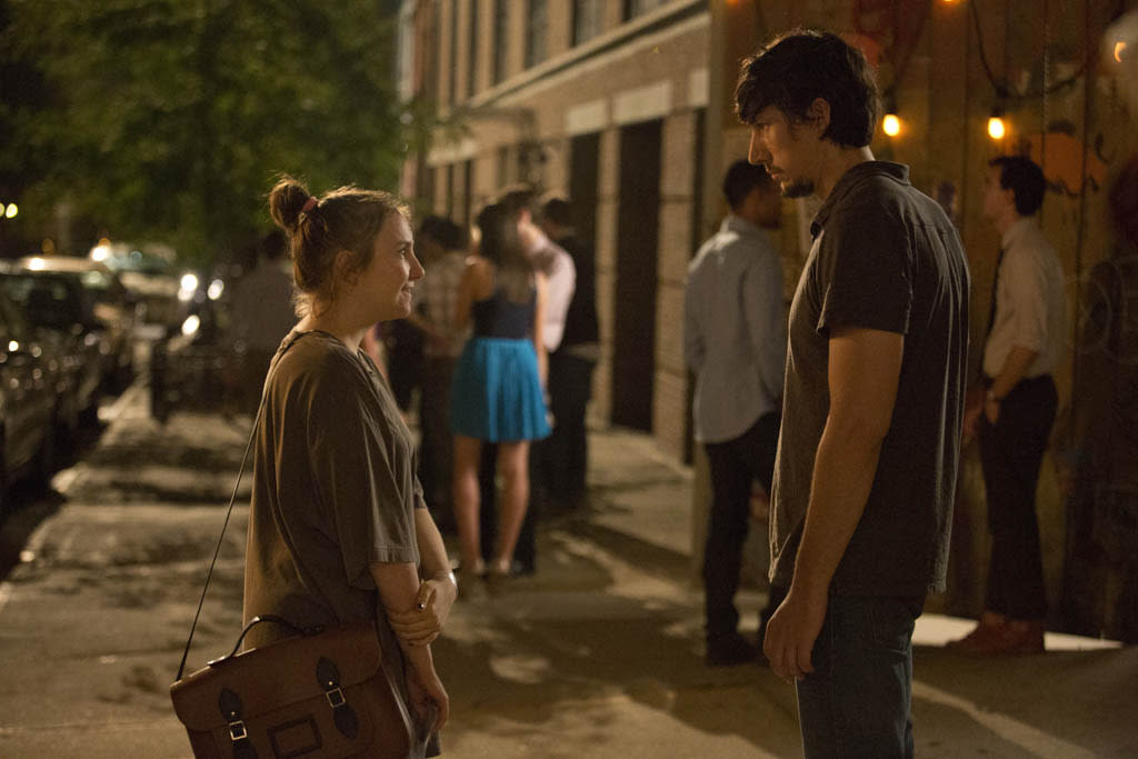 "Lena Dunham and Adam Driver in the ""Girls"" Season 2 episode, ""On All Fours."""