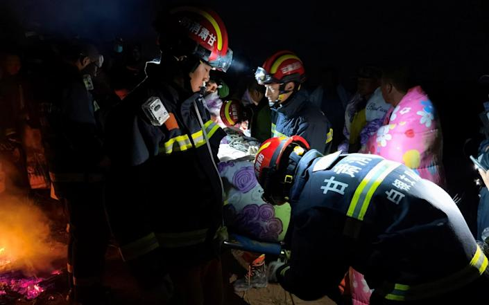 Rescue efforts to save participants of the race - VIA REUTERS