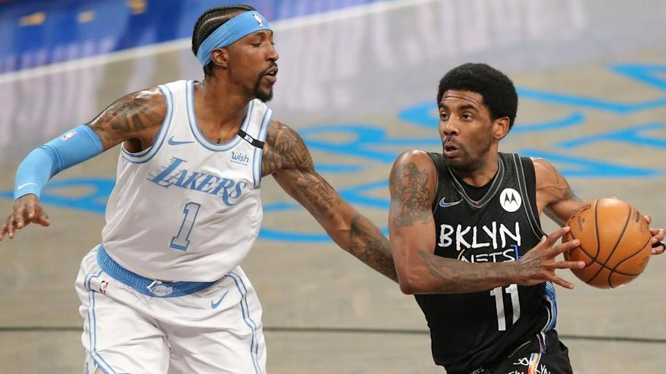 Kyrie Irving vs Lakers, black jersey