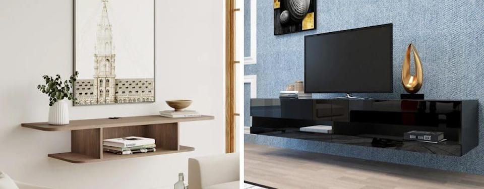 Joashus Floating TV Stand and Farallones Floating TV Stand