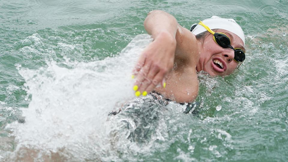 Chloe McCardel is the first person in history to swim across the English Channel 44 times. Pic: Getty