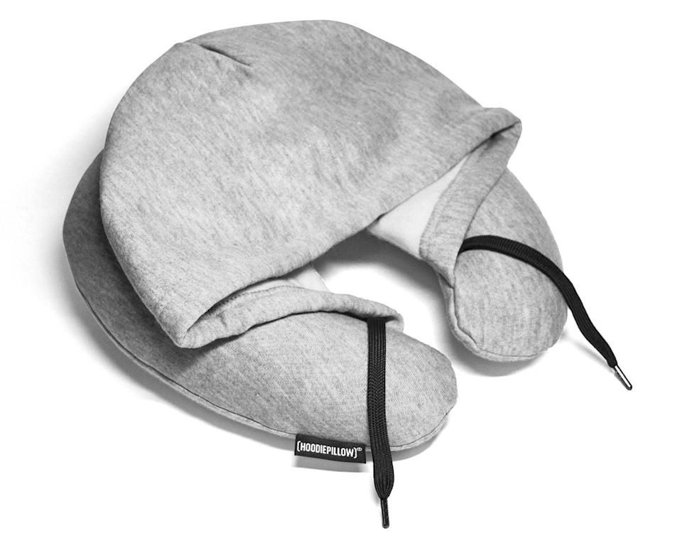 <p>Gone are the days of airplane pillows being dropped and forgotten in the airport terminal. With a <span>HoodiePillow</span> ($25), your path to sound sleeping on the plane is secure. </p>