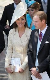 Catherine, Duchess of Cambridge and Prince William, Duke of Cambridge leave Canongate Kirk on the afternoon of the wedding of Mike Tindall and Zara Philips in Edinburgh, Scotland, on July 30, 2011  -- Getty Images