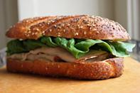 <p>When you have one hand on the wheel, it's about time you start packing a turkey sandwich like this one, specially designed to be eaten with one hand.</p>
