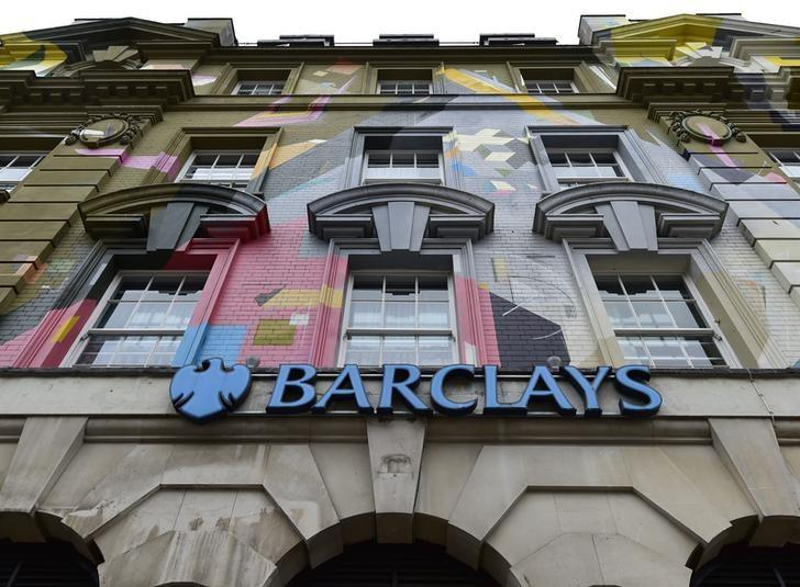 A branch of Barclays bank is seen in central London