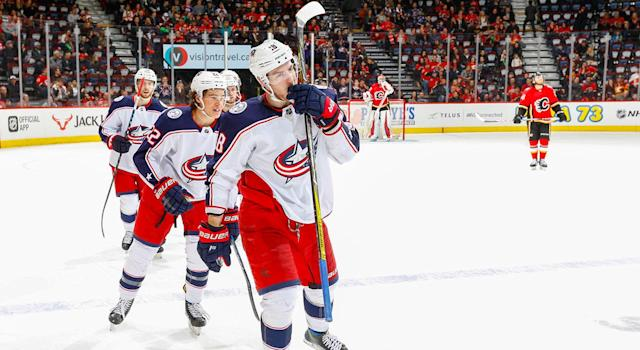"The <a class=""link rapid-noclick-resp"" href=""/nhl/teams/cob"" data-ylk=""slk:Blue Jackets"">Blue Jackets</a> are doing their best to avoid a first-round matchup with the Bruins. (Photo by Gerry Thomas/NHLI via Getty Images)"