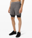 """<p><strong>Lululemon</strong></p><p>lululemon.com</p><p><a href=""""https://go.redirectingat.com?id=74968X1596630&url=https%3A%2F%2Fshop.lululemon.com%2Fp%2Fmen-shorts%2FTHE-Short-Nulux-7-MD%2F_%2Fprod9270007&sref=https%3A%2F%2Fwww.menshealth.com%2Fstyle%2Fg33980752%2Flululemon-sale-we-made-too-much-mens-deals%2F"""" rel=""""nofollow noopener"""" target=""""_blank"""" data-ylk=""""slk:BUY IT HERE"""" class=""""link rapid-noclick-resp"""">BUY IT HERE</a></p><p><del>$88.00</del><strong><br>$49.00</strong></p><p>Sometimes stylish working gear helps guys to get motivated to level up their workouts, but even if you just wear these stylish layered shorts for weekend adventures, you're still getting your money's worth. If you're the kind of guy who sees value in cost-per-wear, this is essentially a steal. </p>"""