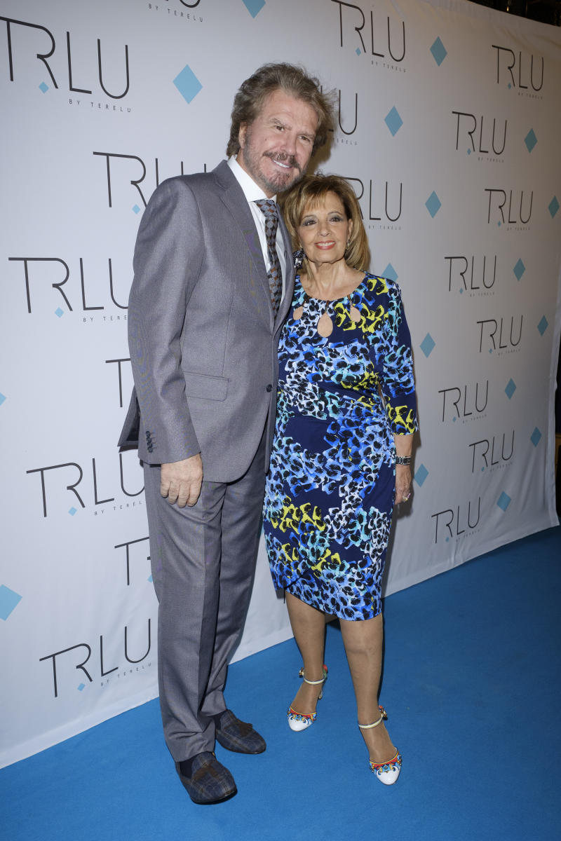 Edmundo Arrocet and María Teresa Campos attends the presentation of the TRLU jewelry May 23, 2018 in Madrid, Spain. (Photo by Oscar Gonzalez/NurPhoto via Getty Images)
