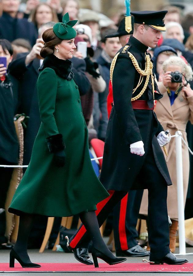 The boy is Kate and Wills' third child and is fifth in line to the throne. Photo: Getty