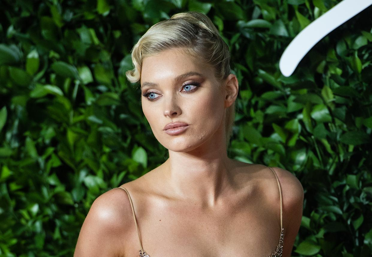 LONDON, ENGLAND - DECEMBER 02: Elsa Hosk arrives at The Fashion Awards 2019 held at Royal Albert Hall on December 02, 2019 in London, England. (Photo by Samir Hussein/WireImage)