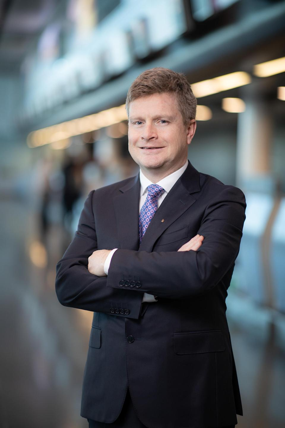 Sean Doyle was appointed chief executive of British Airways in October 2020 (British Airways/PA)