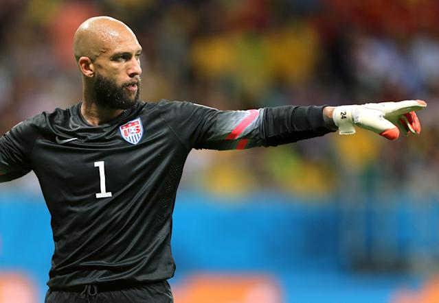 Tim Howard's masterclass against Belgium at the 2014 World Cup was his top highlight of a great decade. (Getty Images)