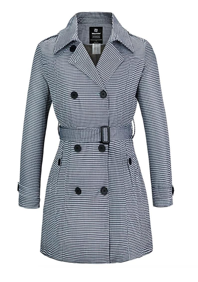 """Looking for something more fitted? Opt for this structured trench with a checked print and statement buttons Jackie O would approve of. $50, Amazon. <a href=""""https://www.amazon.com/Wantdo-Womens-Double-Breasted-Trench-Medium/dp/B07Q5W5Z9N/"""" rel=""""nofollow noopener"""" target=""""_blank"""" data-ylk=""""slk:Get it now!"""" class=""""link rapid-noclick-resp"""">Get it now!</a>"""