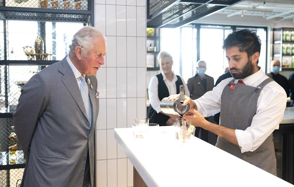 This marked the launch of a partnership between Johnnie Walker and The Prince's Foundation (PA Wire)