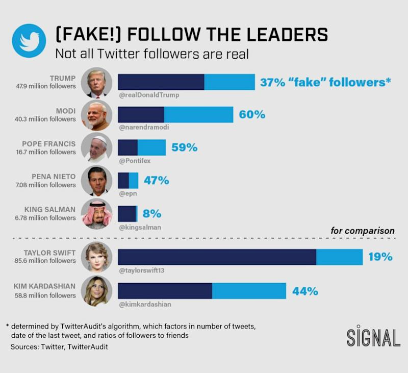 Fake twitter followers