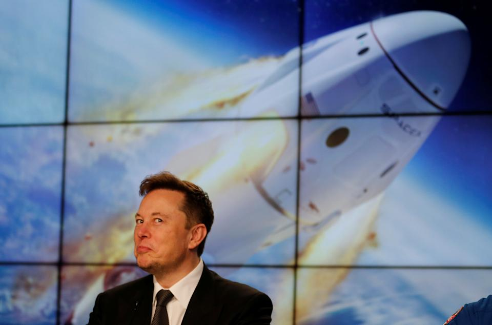 Elon Musk appeared to reverse his position on Tesla accepting bitcoin, as the currency heads towards a more climate-friendly future. Photo: Joe Skipper/Reuters
