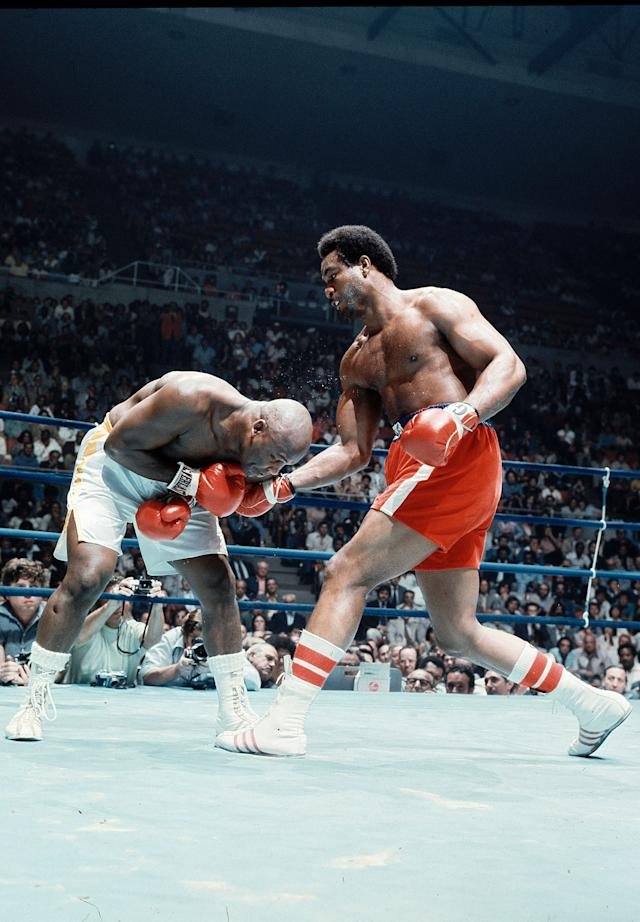 George Foreman TKO2 Joe Frazier, Jan. 22, 1973 – Frazier entered the bout as the champion, with a record of 29-0 with 25 knockouts. Foreman was 37-0 with 34 knockouts. It promised to be an action-packed fight, but it was all one-sided. Foreman knocked Frazier down six times, once lifting Frazier off his feet with a punch, en route to claiming the title.