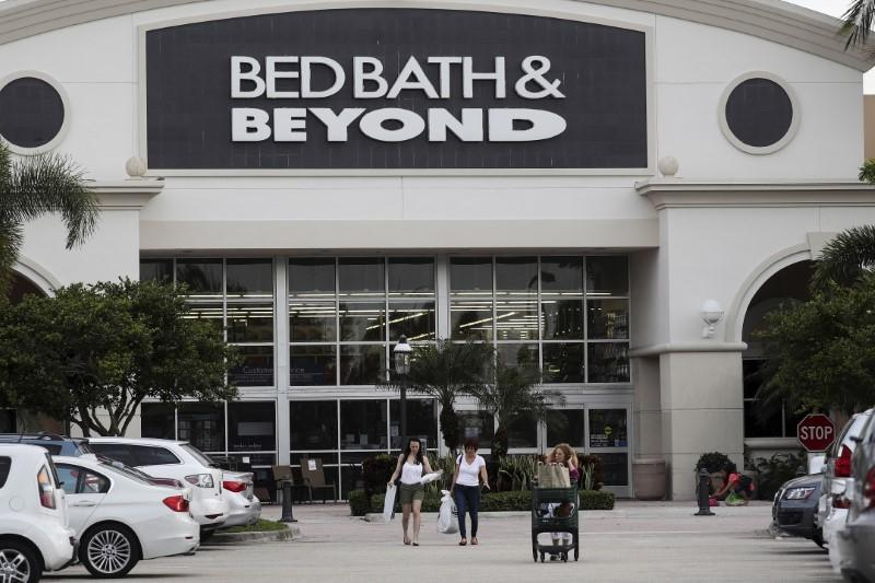 FILE PHOTO: File photo of shoppers leaving a Bed Bath and Beyond store in Boca Raton