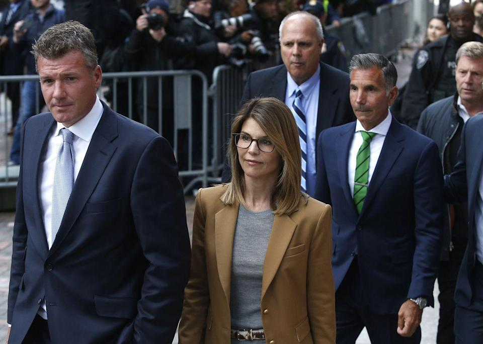 "<p>In 2019, Felicity Huffman and Lori Louglin became part of a huge scandal when 50 people were indicted in a <a href=""https://www.cosmopolitan.com/entertainment/a26809360/college-cheating-scandal-timeline-lori-loughlin-felicity-huffman/"" rel=""nofollow noopener"" target=""_blank"" data-ylk=""slk:college admissions bribery scandal"" class=""link rapid-noclick-resp"">college admissions bribery scandal</a> that alleged that wealthy parents were paying bribes to get their kids into elite schools. Huffman admitted to paying $15,000 to up her daughter's SAT scores, issued a public apology, pleaded guilty, and served 11 days of a two-week sentence.</p><p>Lori was accused of paying $500,000 to get her daughters into USC, maintained her innocence, and, in 2020, was sentenced to <a href=""https://www.cnn.com/2020/08/21/us/lori-loughlin-sentencing-college-admissions-scam/index.html"" rel=""nofollow noopener"" target=""_blank"" data-ylk=""slk:two months in prison"" class=""link rapid-noclick-resp"">two months in prison</a>. <br></p>"