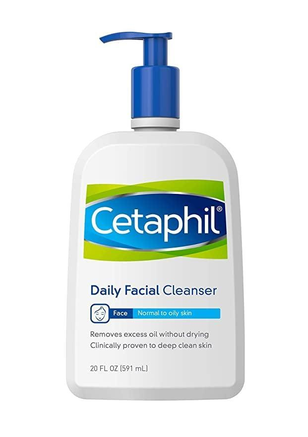 """<p>""""The <span>Cetaphil Facial Cleanser For Normal to Oily Skin</span> ($15) is [the] best gentle cleanser that removes makeup completely and doesn't dry out the skin."""" - <a href=""""https://www.instagram.com/kristoferbuckle/?hl=en"""" class=""""link rapid-noclick-resp"""" rel=""""nofollow noopener"""" target=""""_blank"""" data-ylk=""""slk:Kristofer Buckle"""">Kristofer Buckle</a>, celebrity makeup artist</p>"""