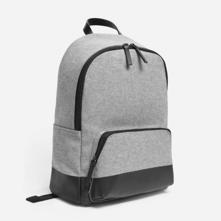 The Everlane Dipped Mini Zip Backpack in denim/black, retails for $70. (Photo: Everlane)