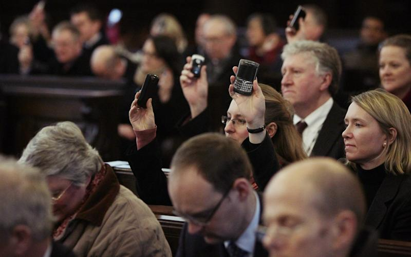 More people are reached via smartphone and computer than in physical church services - Peter Macdiarmid/Getty Images