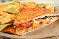 """<p><strong>Southwestern Panini</strong></p><p>Arizona is known for it's Navajoland, beautiful red rocks, and hot temperatures. Between a sandwich and pastry, thinly sliced ham, avocado, seasoned black beans, cheese, and chipotle sauce, the Southwestern Panini is the true taste of Arizona flair at <a href=""""https://www.jjdelicatessen.com/"""" rel=""""nofollow noopener"""" target=""""_blank"""" data-ylk=""""slk:JJ's Delicatessen"""" class=""""link rapid-noclick-resp"""">JJ's Delicatessen</a>. </p>"""