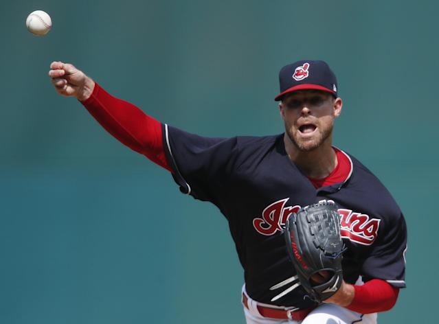 Indians pitcher Corey Kluber is the only unanimous choice among the 61 players on the All-MLB team. (Getty Images)