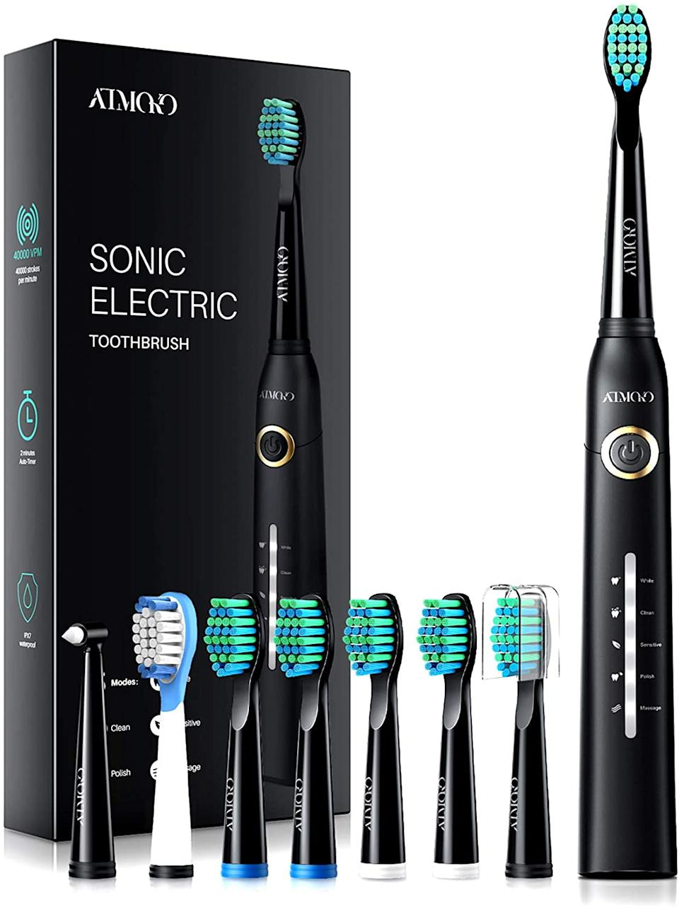 ATMOKO Electric Toothbrushes for Adults. Image via Amazon.