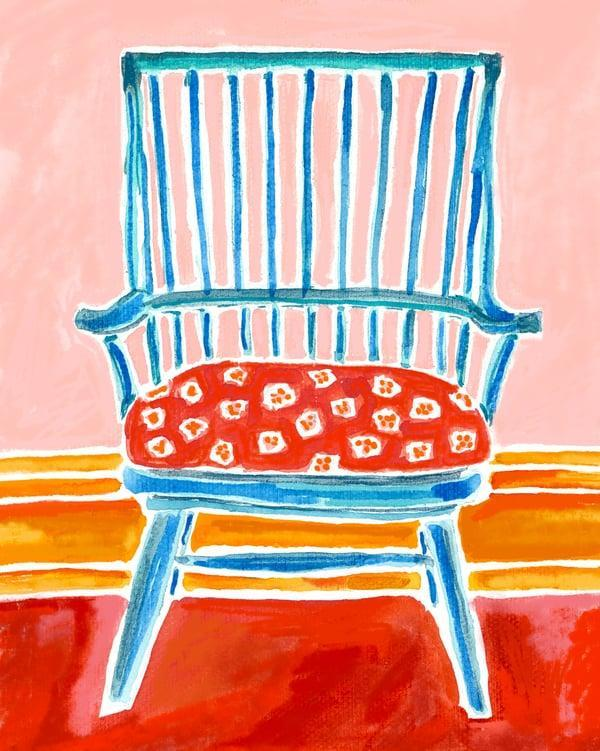 <p>We're not afraid of vibrant color, so this <span>Blue Chair by Kate Lewis</span> ($39) print was a no-brainer purchase. </p>