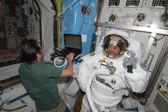 Space Station Astronauts to Take Spacewalk Today