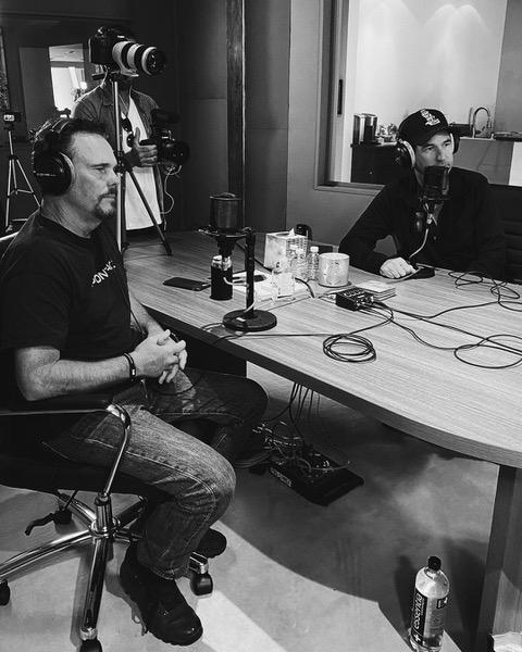 Dillon and Ellin during a recording of 'Victory the Podcast,' a podcast devoted to 'Entourage' (Photo: ActionPark Media)