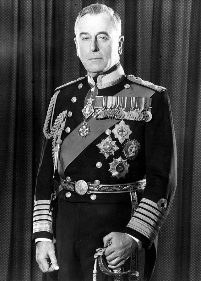 A 1965 LIBRARY FILE PICTURE OF EARL MOUNTBATTEN OF BURMA