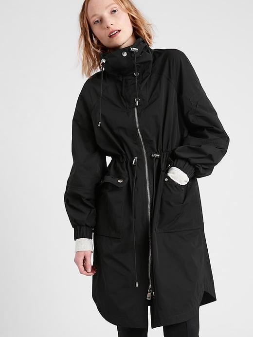 <p>This water-repellent <span>Banana Republic Funnel-Neck Rain Anorak</span> ($206, originally $229) is a chic twist on a traditional anorak.</p>