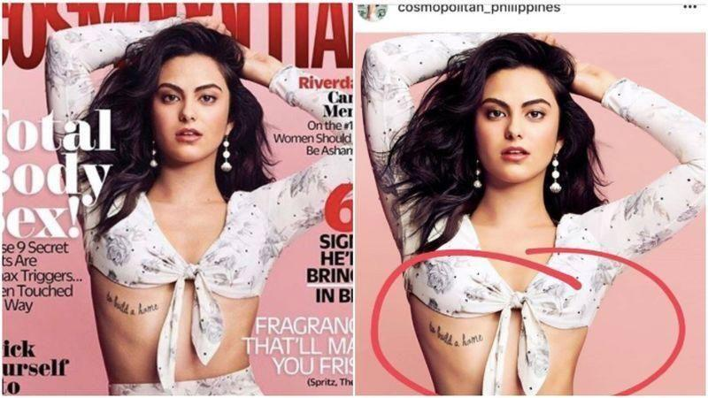 Earlier this month Camila called out Cosmopolitan magazine for photoshopping her waist, after co-star Lili Reinhart shared a comparison post that revealed the mag was trying to make Camila appear smaller. Source: Instagram/lilireinhart
