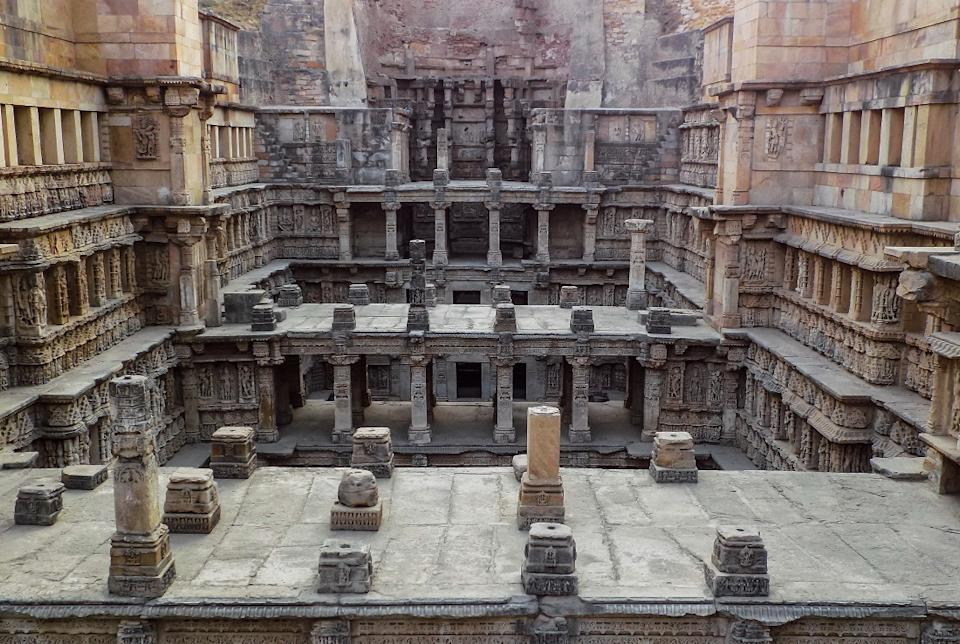 Unesco world heritage site Rani ki vav (stepwell), Patan, on the banks of the Saraswati River, was initially built as a memorial to a king in the 11th century AD. Stepwells are a distinctive form of subterranean water resource and storage systems on the Indian subcontinent, and have been constructed since the 3rd millennium BC