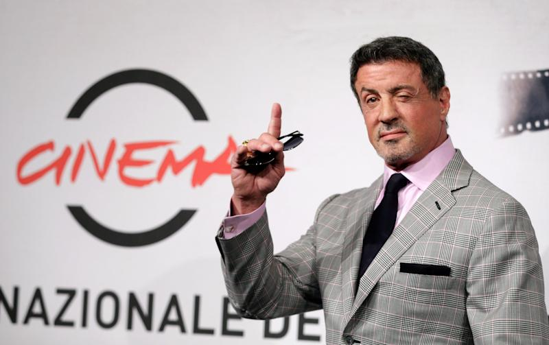 """Actor Sylvester Stallone poses during the photo call of the movie """"Bullet to the Head"""" at the 7th edition of the Rome International Film Festival in Rome, Wednesday, Nov. 14, 2012. (AP Photo/Andrew Medichini)"""