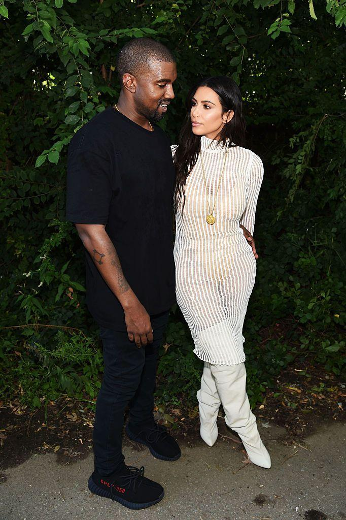 <p>The rapper showcased his Yeezy collection in New York City in September 2016 with Kardashian decked out in her husband's collection.</p>
