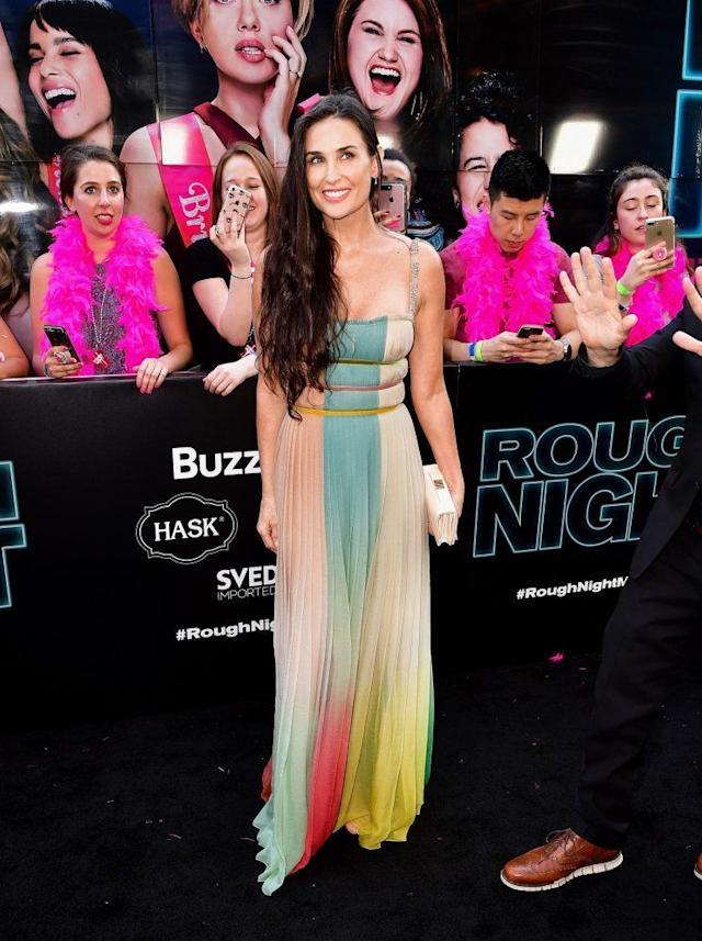 """Demi Moore at the """"Rough Night"""" New York premiere in New York City. (Photo: Getty Images)"""