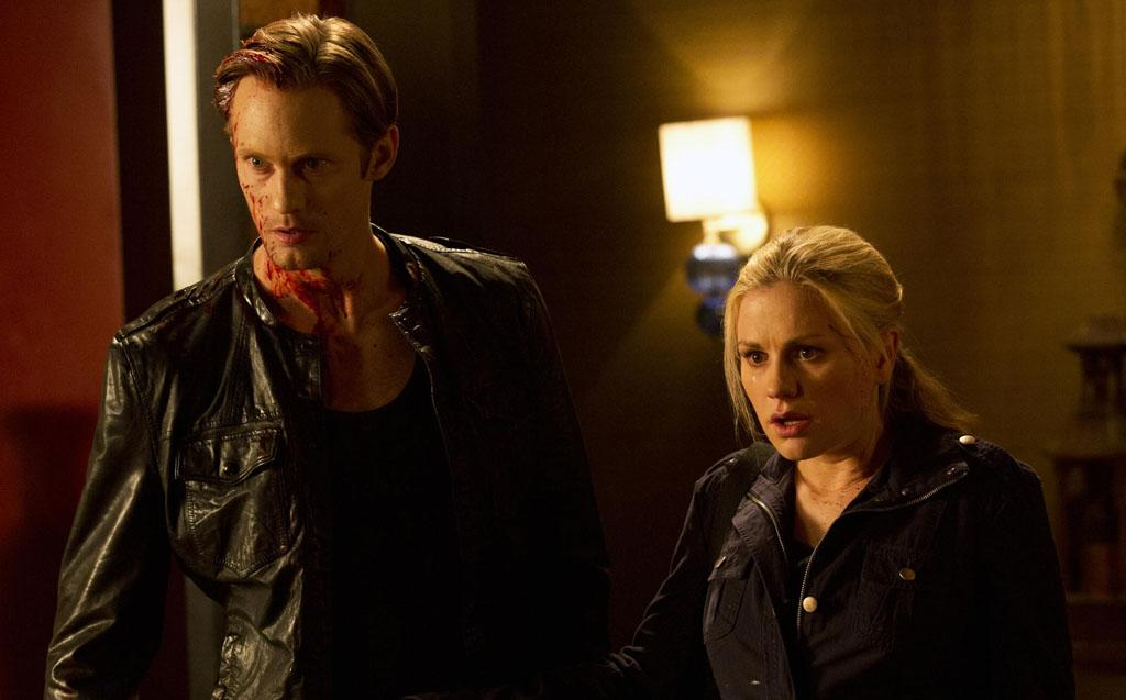 "Alexander Skarsgard and Anna Paquin in the ""True Blood"" Season 5 finale."
