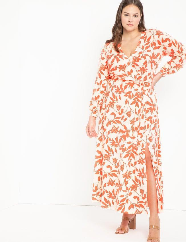 """<h3><h2>Eloquii Wrap Maxi Dress</h2></h3><br><strong><em>The Showstopper</em></strong><br><br>Women size 12 and up sing the praises of Eloquii's classic and perfectly calibrated wrap dress, citing a fabric weight suited for year-round wear and expert, flattering tailoring.<br><br><strong>The Hype: </strong>4.5 out of 5 stars; 497 reviews on Eloquii.com<br><br><strong>What They're Saying: </strong>""""I have been on the hunt for a beautiful long dress that I could wear with my platform combat boots or dressy shoes. These mock wrap dresses are no-fuss: no-slip needed and the belt is easy to tie. The material hangs nicely without emphasizing anything about my figure that I don't like. I ended up getting the dress in three patterns. I was wearing the print for the first time when a man stopped me at the store, raised his hands up and down at me and said, 'This is excellent!' I had been concerned that head to toe print would be too much, but the feedback I've received has been a resounding 'Yes' to this dress!"""" — Reviewer on Eloquii.com<br><br><em>Shop <strong><a href=""""https://www.eloquii.com/"""" rel=""""nofollow noopener"""" target=""""_blank"""" data-ylk=""""slk:Eloquii"""" class=""""link rapid-noclick-resp"""">Eloquii</a></strong></em><br><br><strong>Eloquii</strong> Wrap Maxi Dress, $, available at <a href=""""https://go.skimresources.com/?id=30283X879131&url=https%3A%2F%2Fwww.eloquii.com%2Fwrap-maxi-dress%2F1245969.html"""" rel=""""nofollow noopener"""" target=""""_blank"""" data-ylk=""""slk:Eloquii"""" class=""""link rapid-noclick-resp"""">Eloquii</a>"""