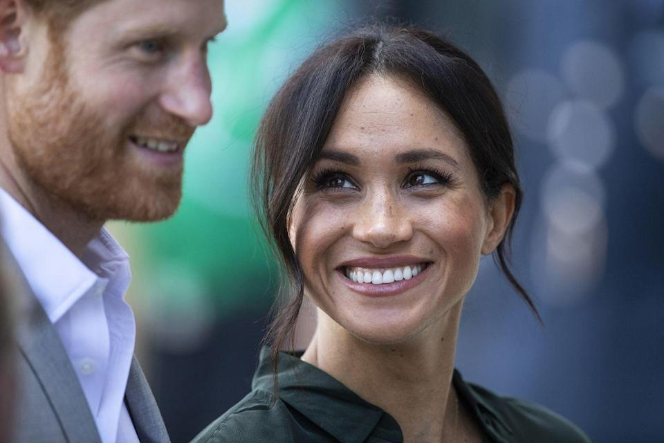 <p>Meghan gave Harry a true look of love as they visited the University of Chichester's Engineering and Digital Technology Park. </p>