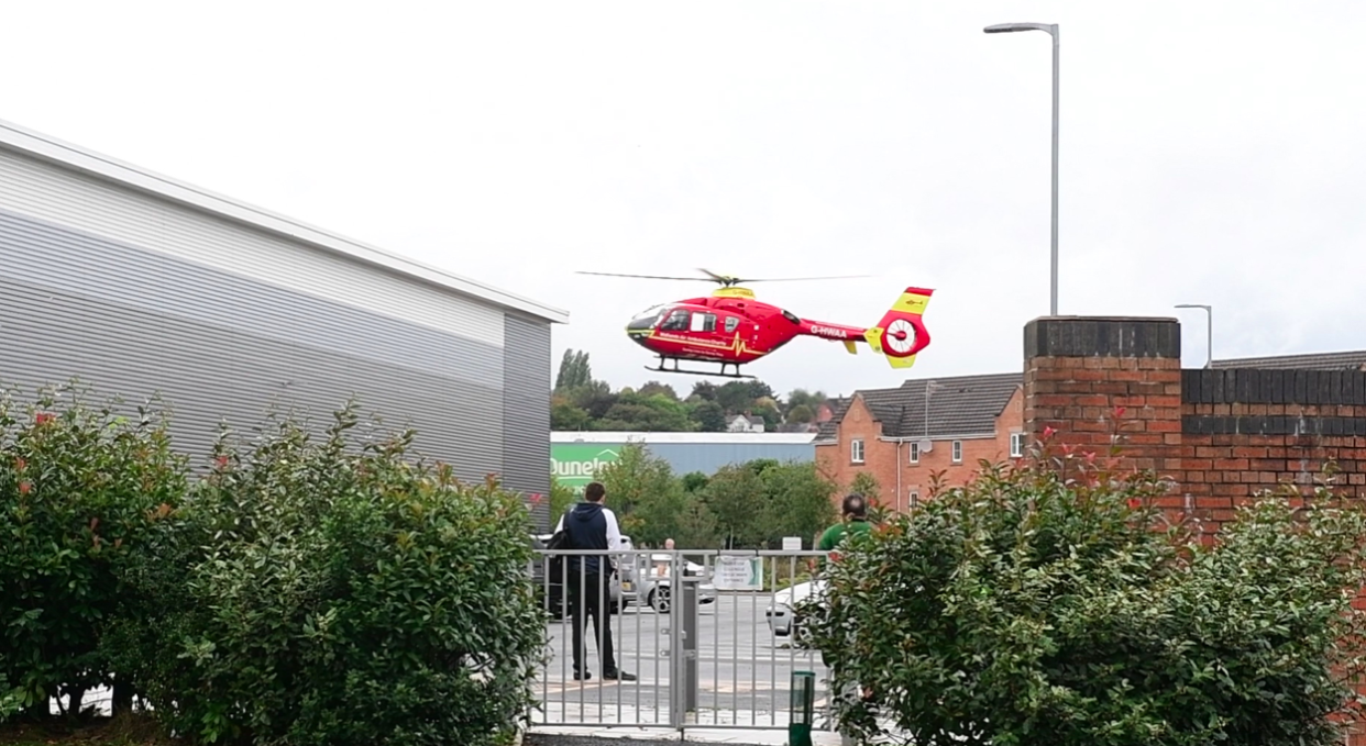 Shaun Potter was airlifted to the Royal Stoke University Hospital where he later died. (Reach)