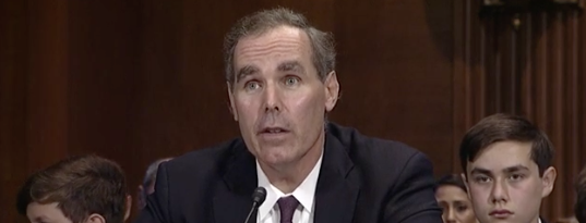 Eric Dreiband appeared before members of the Senate Judiciary Committee on Wednesday.