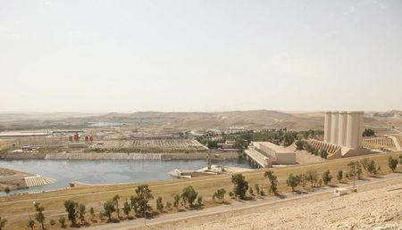 General view of Mosul Dam in northern Iraq