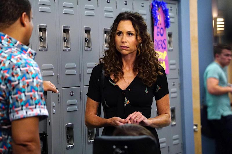 Proud: Minnie Driver described the NHS as