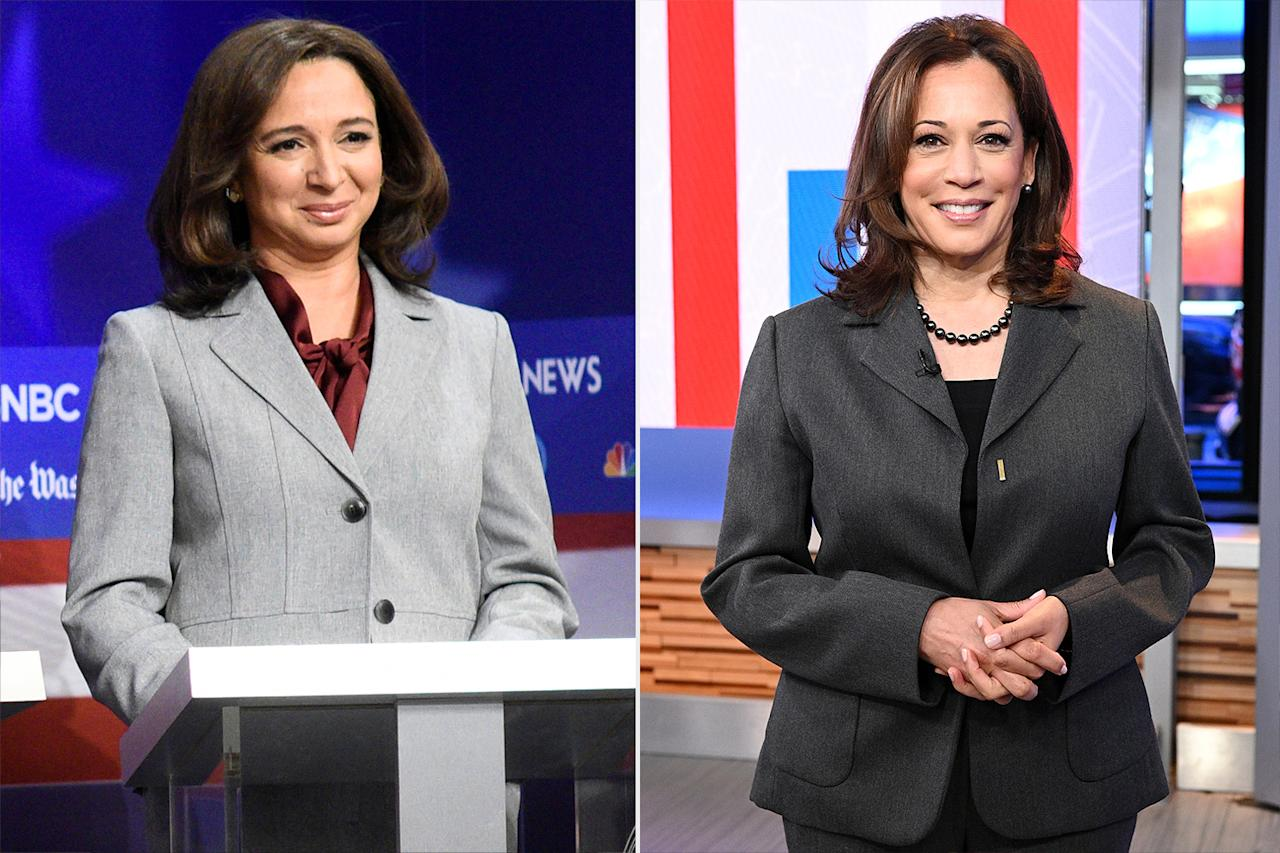 "<p>The <em>Saturday Night Live </em>alum made history this year by being <a href=""https://people.com/politics/kamala-harris-and-hillary-clinton-ask-maya-rudolph-and-amy-poehler-what-its-like-to-spoof-them-on-snl/"">nominated twice</a> in the same category for outstanding guest actress in a comedy series. One of those nominations is for <a href=""https://people.com/politics/kamala-harris-responds-maya-rudolph-spoof-saturday-night-live/"">her genius impression</a> of senator and Democratic <a href=""https://people.com/politics/maya-rudolph-reacts-kamala-harris-vice-president-pick/"">vice-presidential candidate Kamala Harris</a>. </p>"