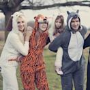 <p>Your family must <em>actually</em> feels like a zoo sometimes. Why not poke fun at it and have everyone dress as their favorite animal? Onesies make these costumes perfect for kids who don't have patience for elaborate costumes. They're pretty comfy!</p>